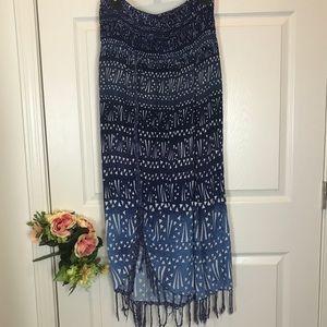 Boho Tribal Print Dress Size Med Large